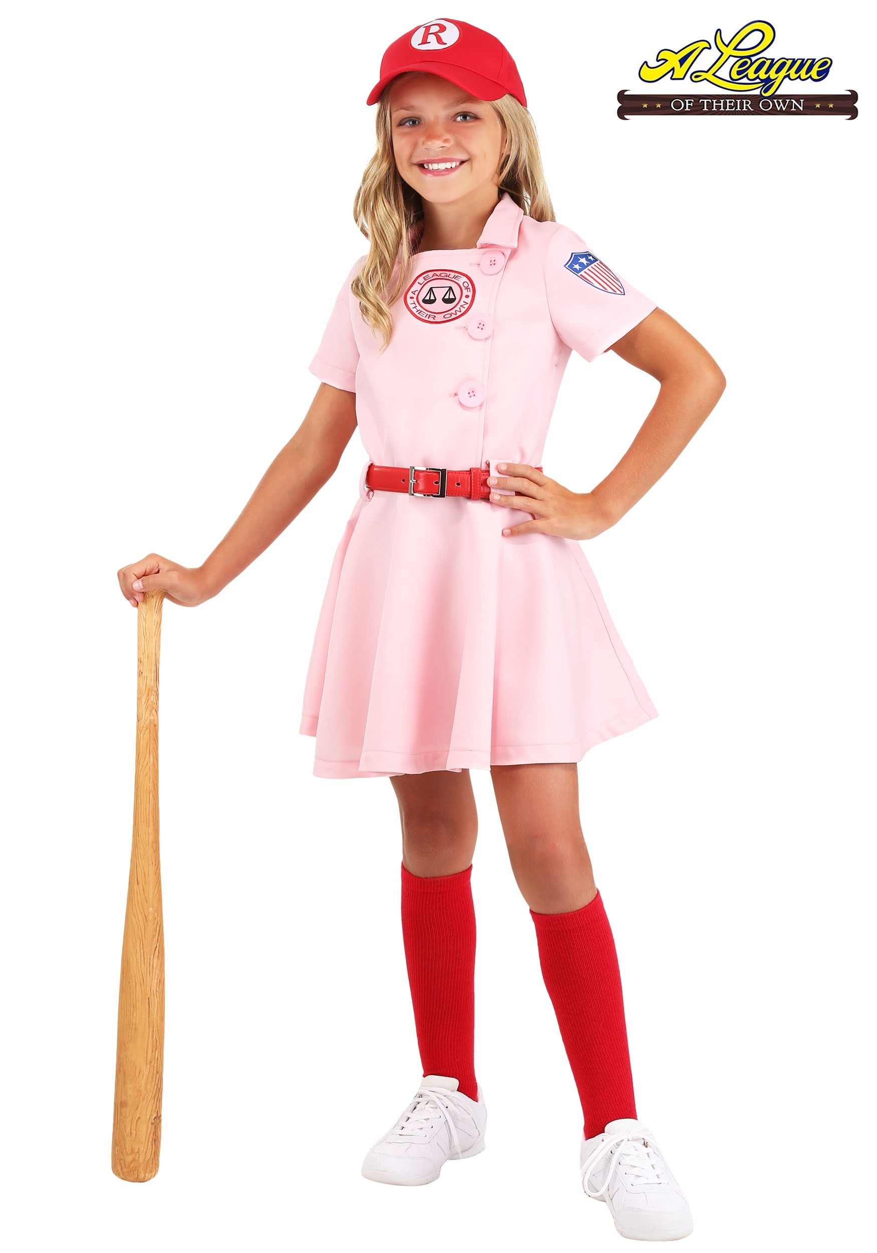League of Their Own Luxury Child Dottie Costume for Girls