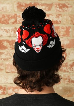 IT Pennywise Ugly Christmas Pom Beanie
