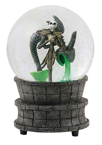 Nightmare Before Christmas Jack in the Fountain Water Globe