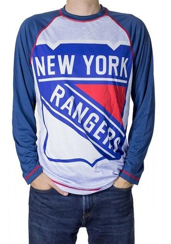 NHL New York Rangers Mens Long Sleeve Rash Guard T-Shirt