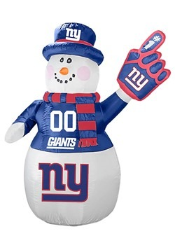 New York Giants Inflatable Snowman