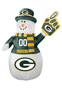 Green Bay Packers Inflatable Snowman