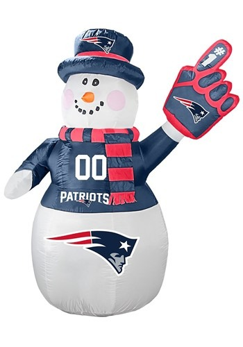 New England Patriots Inflatable Snowman