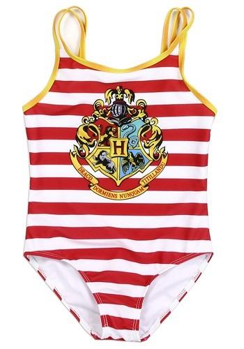 Harry Potter Hogwarts Striped Girls Swimsuit