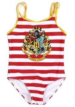 Harry Potter Hogwarts Striped Girls Swimsuit