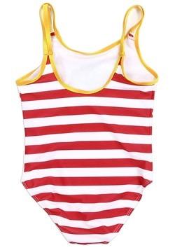 Harry Potter Hogwarts Striped Girls Swimsuit alt1