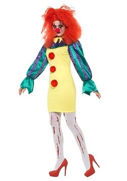 Classic Horror Clown Costume Women's alt 1