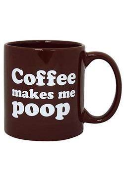Coffee Makes Me Poop Brown Mug