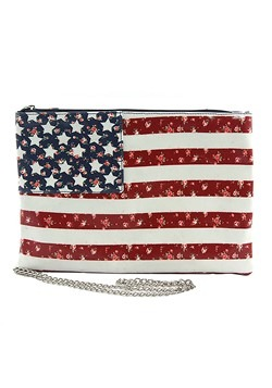 American Flag Side Clutch Bag