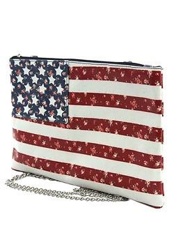 American Flag Side Clutch Bag Alt 1