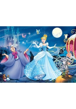 Disney Adorable Cinderella 100 pc Glitter Puzzle Alt 1