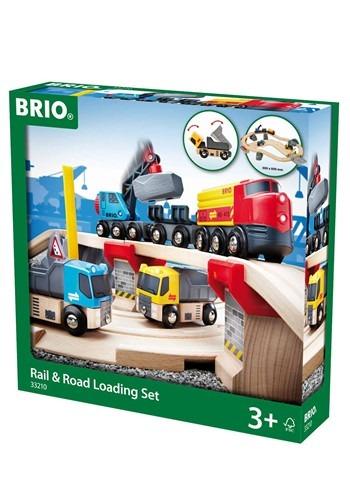 BRIO Wooden Rail & Road Loading Set