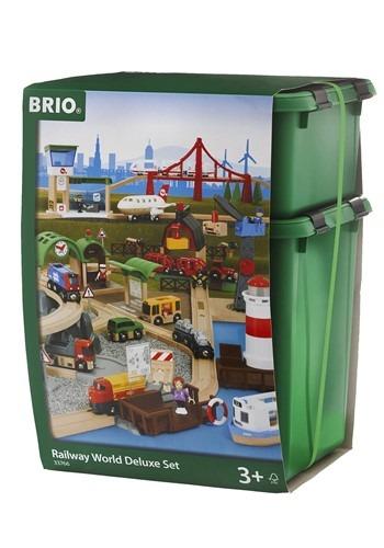 BRIO Wooden Railway World Deluxe Set