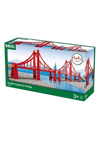 BRIO Double Suspension Wooden Bridge