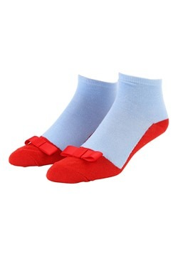 Wizard of Oz Dorothy Ruby Red Slipper Anklet Socks