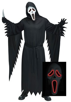 Plus Size Adult E.L. Ghost Face Costume 1