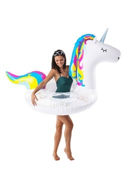 Giant Sparkly Unicorn Pool Float Alt1