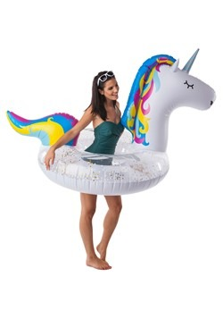 Giant Sparkly Unicorn Pool Float Alt2