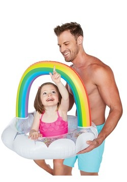 Rainbow Kids Lil' Pool Float w/ Sparkles