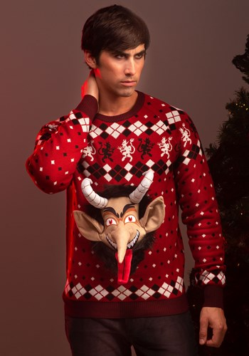 Adult 3D Krampus Ugly Christmas Sweater 1