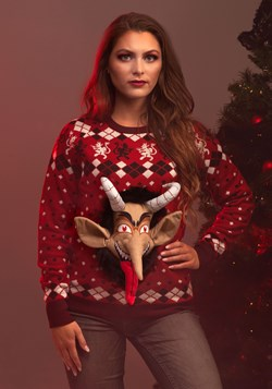 Adult 3D Krampus Ugly Christmas Sweater