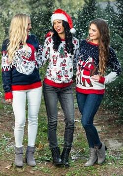 Adult Santa & Reindeer Unisex Ugly Christmas Sweater