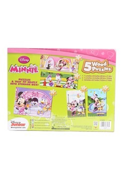 Minnie Mouse Wood Puzzle 5 Pack Alt 1