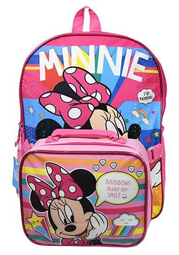 """Minnie Mouse 16"""" Backpack Lunch Bag"""