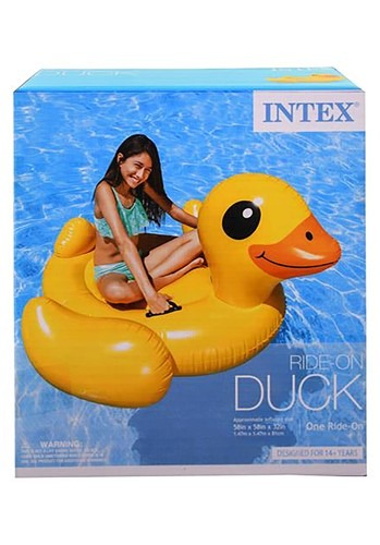 Intex Yellow Duck Inflatable Ride-On