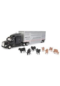 Peterbilt Model 579 Semi w/ Livestock Trailer & An