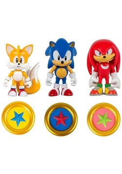 "Sonic the Hedgehog 3"" Figure 3 Pack With Rings"