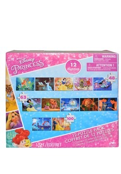 Disney Princess 12 Piece Puzzle Pack