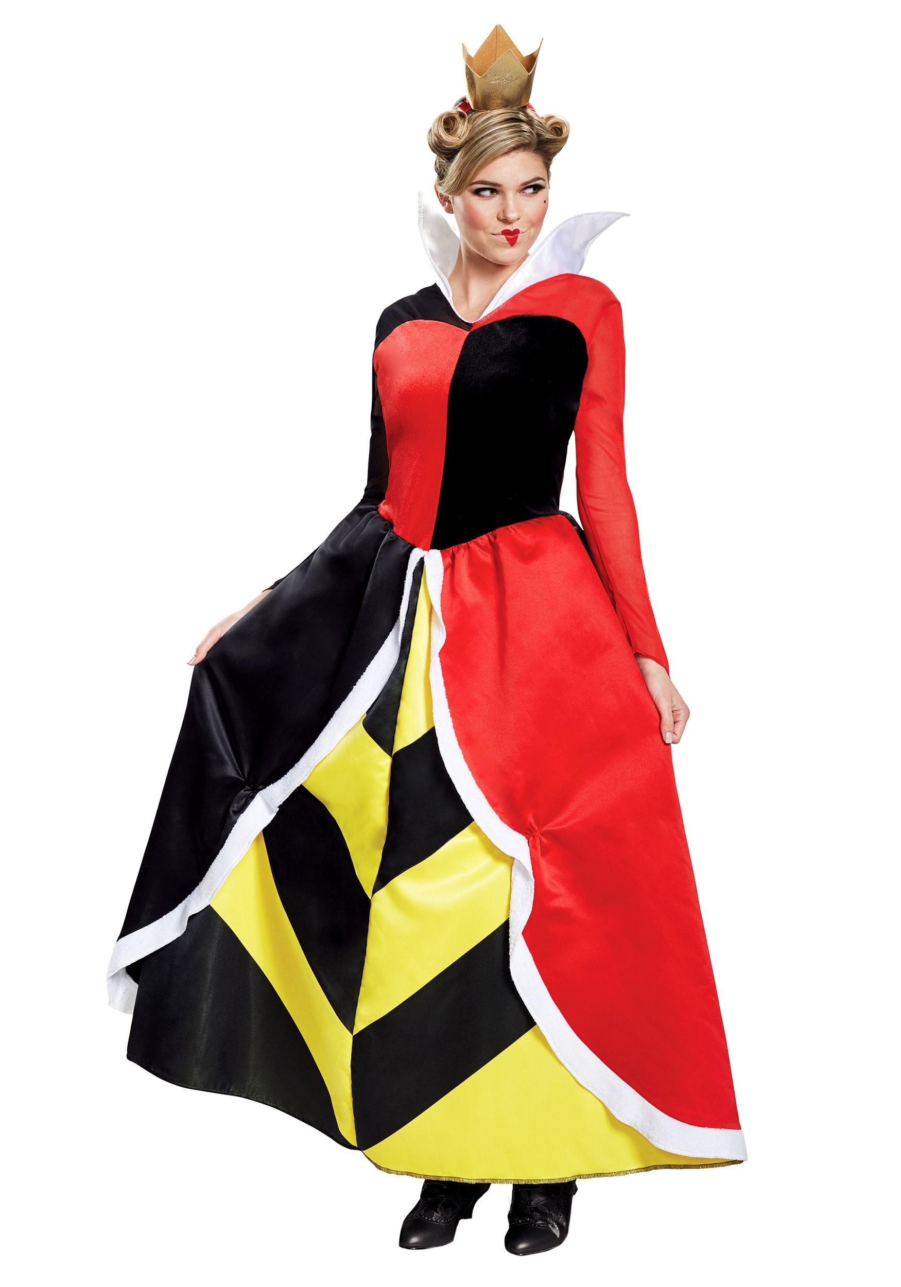 Alice in Wonderland Queen of Hearts Deluxe Costume
