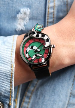 Beetlejuice Sand Worm Watch w/ Black Strap