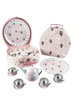 Party Animal 11pc Tin Tea Set in Round Case