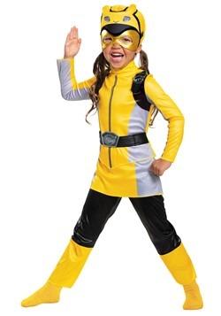 Girls Yellow Power Ranger Beast Morphers Costume