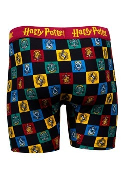 Mens Hogwarts Checkered Crest Print Boxer Briefs Alt 2