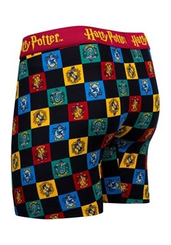 Mens Hogwarts Checkered Crest Print Boxer Briefs Alt 3