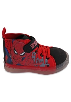 Spiderman Hightop Lighted Kids Shoe Alt 2