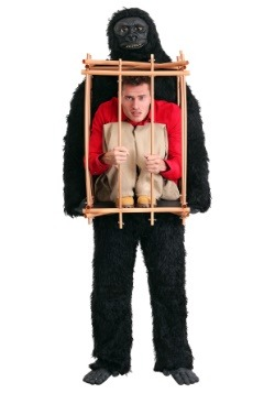 Man in a Gorilla Cage Adult Costume