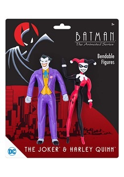 Batman Animated Series Joker & Harley Quinn Bendable Figure