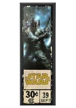 """Star Wars Boba Fett 8"""" x 27"""" Framed Print Wall Art"""