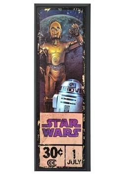 """Star Wars C-3PO & R2-D2 8"""" x 27"""" Framed Print Wall Art"""