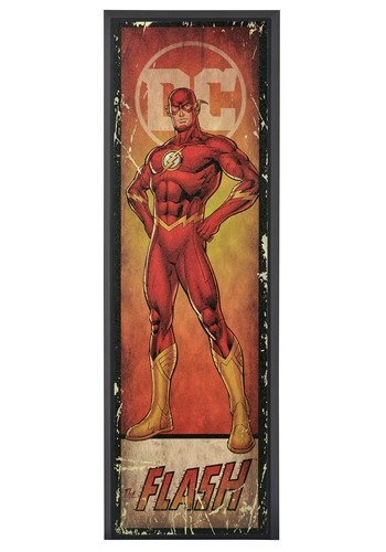 "DC Comic The Flash 8"" x 27"" Framed Print Wall Art"