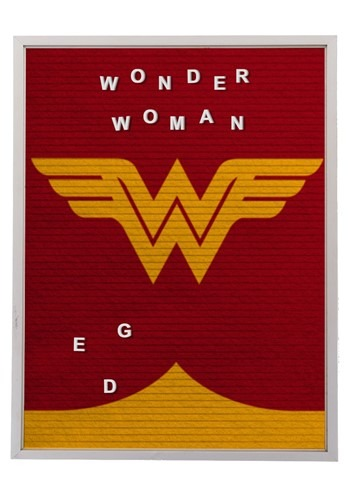 "DC Comics Wonder Woman 13""x17.5"" Felt Letterboard Wall Art w"