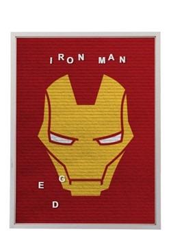 """Marvel Iron Man 13""""x17.5"""" Felt Letterboard Wall Art w/ 145 l"""