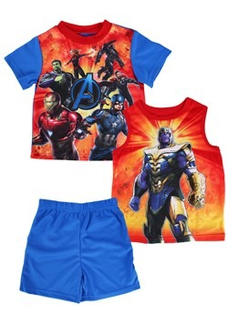 Boys Avengers Shirt/Short/Tank Lounge Sleep Set