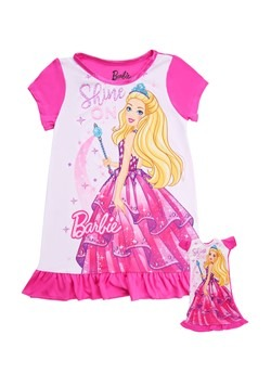 """Toddler Shine On Barbie Dorm Nightgown with 18"""" Do Alt 1"""