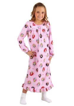 Disney Princesses Girls Granny Gown Sleepwear