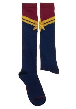 Captain Marvel Suit-Up Knee High Sock Alt 1